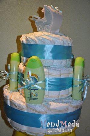 Торт из памперсов №1